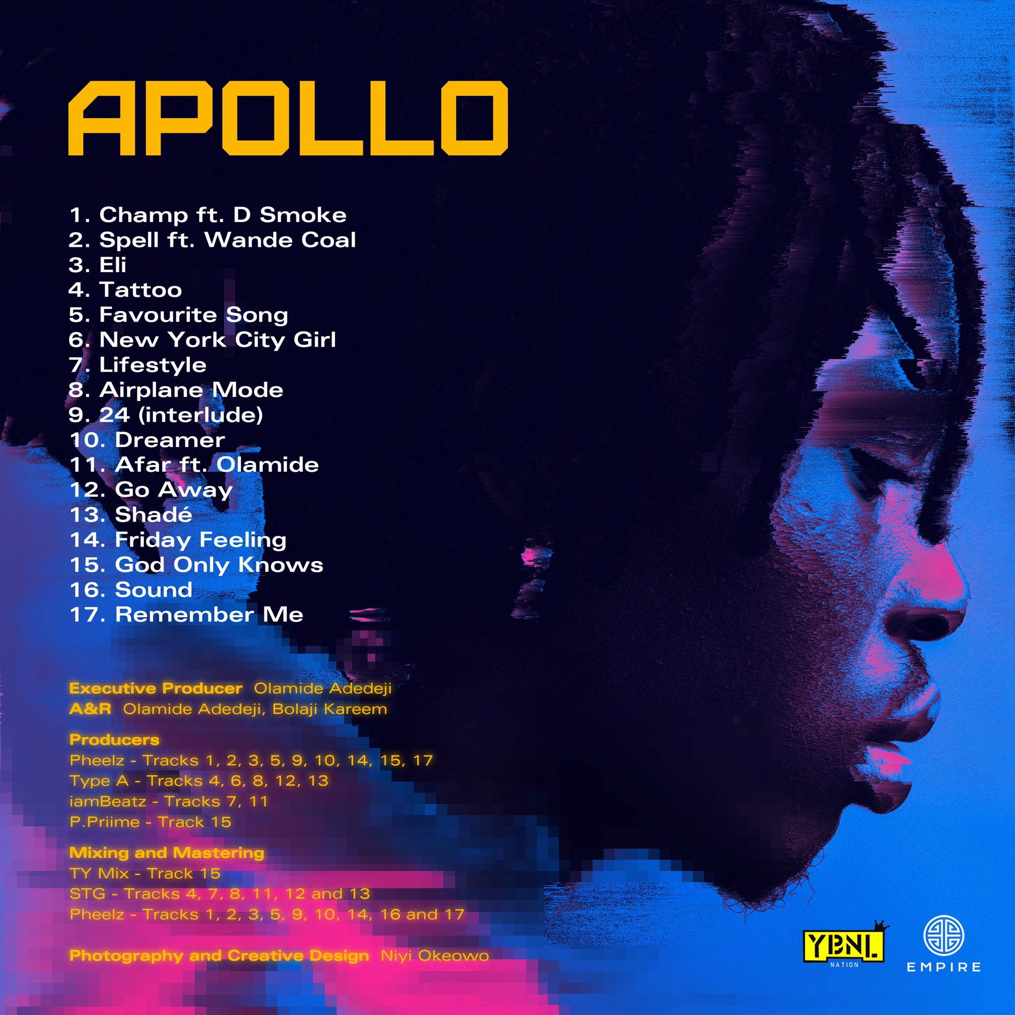 Nigerian singer, Fireboy DML announced the release of his sophomore project, 'Apollo'