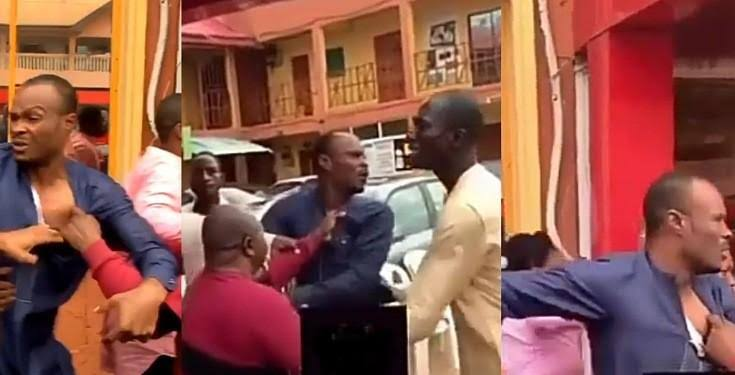 Pastor and his church members fight landlord during church service Video The Untame News Pastor and his church members fight landlord during church service (Video)