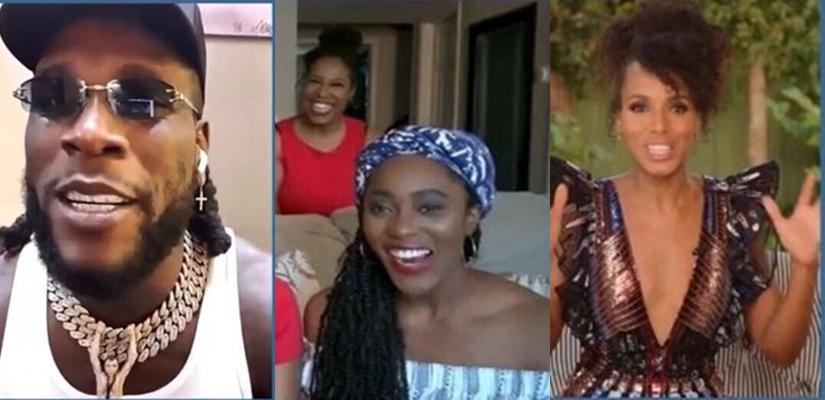 Singer Burna Boy And Actress Kerry Washington Surprise Nigerian Nursing Family On Jimmy Kimmel Live