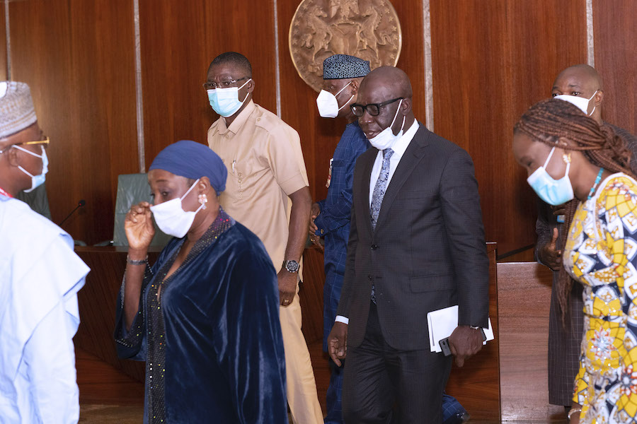 Obaseki visit Buhari 3 The Untame News Obaseki Pays 'Thank You' Visit To Buhari