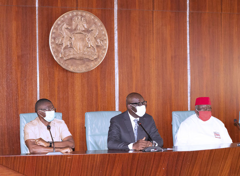 Obaseki visit Buhari 4 The Untame News Obaseki Pays 'Thank You' Visit To Buhari