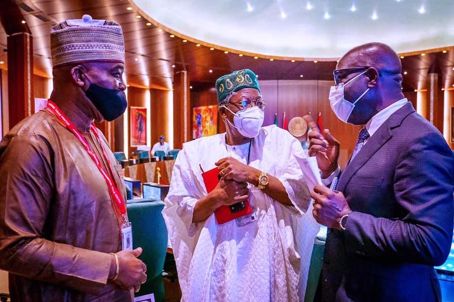 Obaseki visit Buhari 7 The Untame News Obaseki Pays 'Thank You' Visit To Buhari