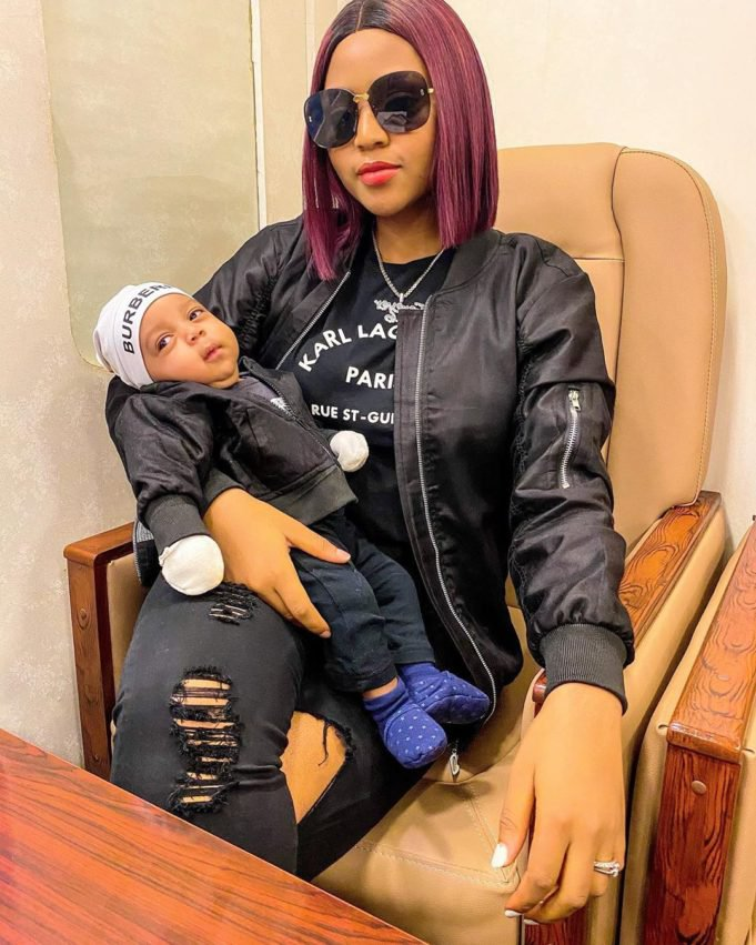Regina Daniels twins with her cute son Prince Munir in matching outfits Photos2 The Untame News Prince Munir in matching outfits (Photos)