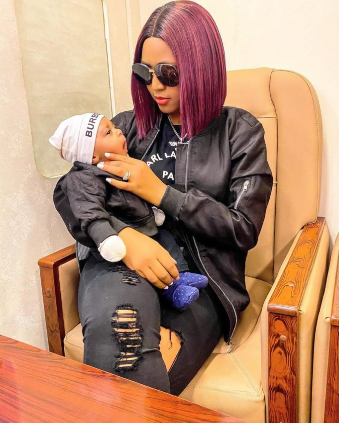 Regina Daniels twins with her cute son Prince Munir in matching outfits Photos4 The Untame News Prince Munir in matching outfits (Photos)